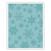 Sizzix Texture Fades A2 Embossing Folder - Simple Snowflakes - 662432